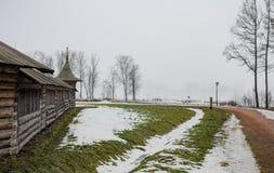 Ομίχλη στο παλαιό πάρκο Στοκ Εικόνες