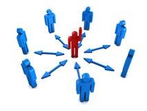 ομαδική εργασία ηγετών διανυσματική απεικόνιση