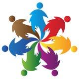 ομαδική εργασία λογότυπων Στοκ Εικόνες