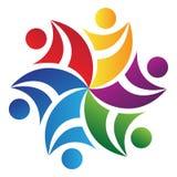 ομαδική εργασία λογότυπ& διανυσματική απεικόνιση