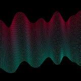 Ομαλά ζωηρόχρωμα κύματα Αφηρημένες διανυσματικές διαστιγμένες γραμμές Επίδραση μίγματος Ρόδινο και μπλε κύμα ελεύθερη απεικόνιση δικαιώματος