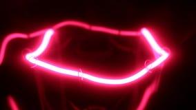 Ομαλές αύξηση και μείωση στη δύναμη του κόκκινου πυρακτωμένου λαμπτήρα απόθεμα βίντεο