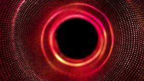 Ομαλή κίνηση των κόκκινων σημείων υψηλής τεχνολογίας και του μαύρου σημείου διανυσματική απεικόνιση