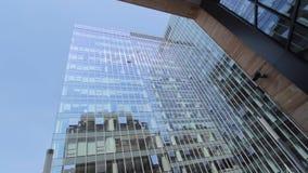 Ομαλός ακολουθώντας πυροβολισμός των κτιρίων γραφείων ακολουθώντας πυροβολισμός κτιρίου γραφείων απόθεμα βίντεο