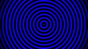 Ομαλό χαλαρώνοντας αφηρημένο υπόβαθρο Ζωντανεψοντα κυμαιμένος κύκλοι ή ραδιο κύματα Μπλε, μαύρο διανυσματική απεικόνιση