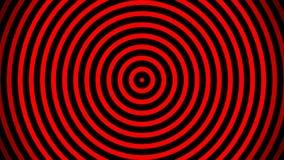 Ομαλό χαλαρώνοντας αφηρημένο υπόβαθρο Ζωντανεψοντα κυμαιμένος κύκλοι ή ραδιο κύματα Κόκκινο, μαύρο διανυσματική απεικόνιση