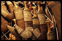 Ομανικό Khanjar είναι ένα παραδοσιακό στιλέτο Στοκ Εικόνες