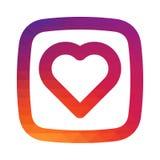 Ομαλή καρδιά εικονιδίων κλίσης μωσαϊκών χρώματος για ομοειδή το κοινωνικό app μέσων σας πρόγραμμα σχεδίου Στοκ εικόνες με δικαίωμα ελεύθερης χρήσης