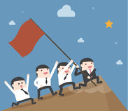 Ομαδική εργασία επιχειρηματιών ηγεσίας Στοκ φωτογραφία με δικαίωμα ελεύθερης χρήσης