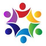 ομαδική εργασία λογότυπων λαβών Στοκ εικόνα με δικαίωμα ελεύθερης χρήσης