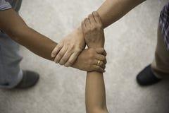 Ομαδική εργασία τριών ανθρώπων Στοκ φωτογραφία με δικαίωμα ελεύθερης χρήσης