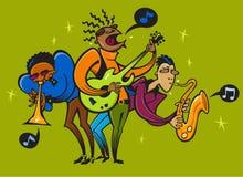 Ομαλοί μουσικοί της Jazz Στοκ φωτογραφία με δικαίωμα ελεύθερης χρήσης