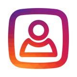 Ομαλό πρότυπο εικονιδίων κλίσης χρώματος Διανυσματική απεικόνιση για το κοινωνικό app μέσων σας πρόγραμμα σχεδίου Στοκ φωτογραφίες με δικαίωμα ελεύθερης χρήσης