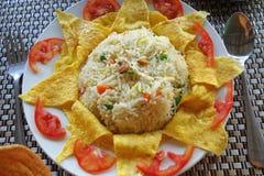 Ομελέτα και τηγανισμένο ρύζι Στοκ φωτογραφία με δικαίωμα ελεύθερης χρήσης