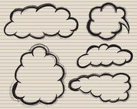Ομιλία βουρτσών doodle με σε χαρτί απεικόνιση αποθεμάτων