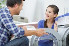 Ομιλία για το πλυντήριο στοκ φωτογραφίες