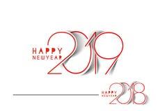 Ομιλία σχεδίου κειμένων καλής χρονιάς 2019 ελεύθερη απεικόνιση δικαιώματος