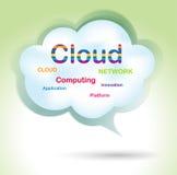 ομιλία σύννεφων φυσαλίδω& διανυσματική απεικόνιση