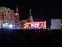 Ομιλία του Vladimir Putin την ημέρα της επανεκλογής του στοκ φωτογραφία με δικαίωμα ελεύθερης χρήσης