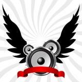 Ομιλητές με τα φτερά διανυσματική απεικόνιση