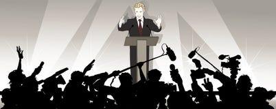 ομιλητής ακροατηρίων προσφωνήσεων διανυσματική απεικόνιση