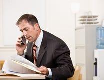 ομιλούν τηλέφωνο επιχει&rho στοκ φωτογραφία με δικαίωμα ελεύθερης χρήσης