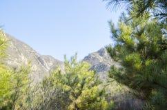 Ομιχλώδης άσπρος μπλε ουρανός βουνών Κινεζικά βουνά φθινοπώρου Στοκ εικόνες με δικαίωμα ελεύθερης χρήσης