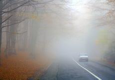 ομιχλώδης δρόμος Στοκ Φωτογραφία