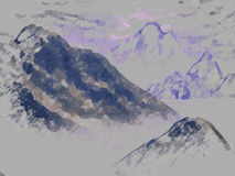 ομιχλώδη βουνά Διανυσματική απεικόνιση