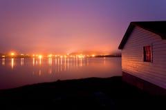 Ομιχλώδη φω'τα λυκόφατος της τριάδας NL Καναδάς στοκ φωτογραφία με δικαίωμα ελεύθερης χρήσης