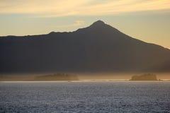 ομιχλώδες ηλιοβασίλεμα στοκ εικόνα με δικαίωμα ελεύθερης χρήσης