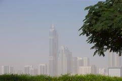 Ομιχλώδες Ντουμπάι στοκ φωτογραφίες