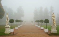 Ομιχλώδες πρωί στο πάρκο της Catherine Στοκ φωτογραφία με δικαίωμα ελεύθερης χρήσης