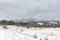 Ομιχλώδες χειμερινό τοπίο βουνών Στοκ εικόνες με δικαίωμα ελεύθερης χρήσης