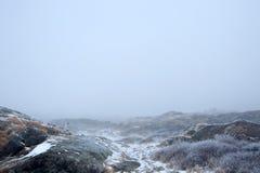 Ομιχλώδες χειμερινό τοπίο Στοκ εικόνα με δικαίωμα ελεύθερης χρήσης