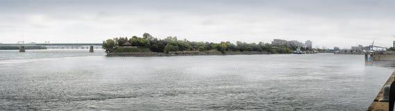 Ομιχλώδης θαλάσσιος δρόμος Αγίου Lawrence Στοκ φωτογραφία με δικαίωμα ελεύθερης χρήσης
