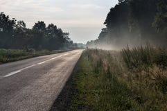 ομιχλώδης δρόμος Στοκ Εικόνες