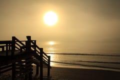 Ομιχλώδης ωκεανός 10 πρωινού Στοκ Φωτογραφία