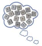 Ομιλία ή σκέψη Στοκ Εικόνα