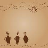 Ομιλία γιαγιάδων τριών φίλων διανυσματική απεικόνιση