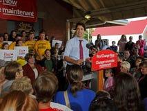Ομιλία Σάσσεξ εκλογής του Justin Trudeau Στοκ Εικόνα