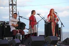 Ομιλία της ρωσικής λαϊκής ορχήστρας του inconnu συνόλων Στοκ φωτογραφίες με δικαίωμα ελεύθερης χρήσης