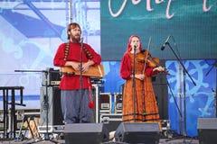 Ομιλία της ρωσικής λαϊκής ορχήστρας του inconnu συνόλων Στοκ εικόνα με δικαίωμα ελεύθερης χρήσης