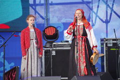 Ομιλία της ρωσικής λαϊκής ορχήστρας του inconnu συνόλων Στοκ Εικόνα