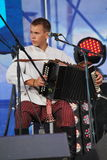 Ομιλία της ρωσικής λαϊκής ορχήστρας του inconnu συνόλων Στοκ Φωτογραφία