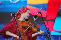 Ομιλία της ρωσικής λαϊκής ορχήστρας του inconnu συνόλων Στοκ εικόνες με δικαίωμα ελεύθερης χρήσης