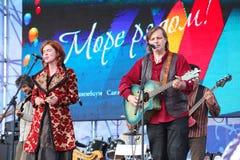 Ομιλία της ρωσικής κελτικής λαϊκής ορχήστρας του συνόλου reelroad Στοκ φωτογραφία με δικαίωμα ελεύθερης χρήσης