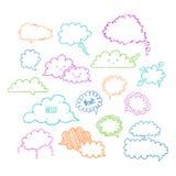Ομιλία φυσαλίδα-03 σύννεφων απεικόνιση αποθεμάτων
