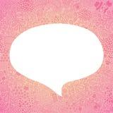 Ομιλία φυσαλίδων στο άνευ ραφής σχέδιο doodle hipster Στοκ Εικόνες