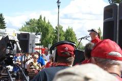 Ομιλία Hometown αδελφών Henderson Στοκ εικόνα με δικαίωμα ελεύθερης χρήσης